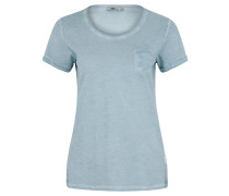 T-Shirt, Cold-Dyed-Optik, verlängerte Rückseite, Tasche