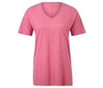 T-Shirt, meliert, langer Schnitt, für Damen, Pink