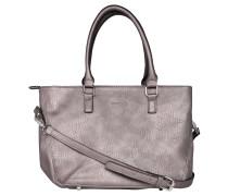 Handtasche, Leder-Optik, optionaler Schultergurt, Grau