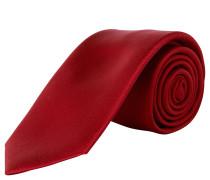 Krawatte, handgefertigt, reine Seide, rot