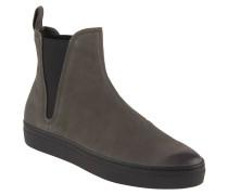 "Chelsea Boots ""Camille"", Leder, breite Sohle, Zuglasche, Grau"
