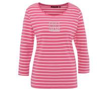 Pullover, 7/8-Arm, Strass-Besatz, Streifen