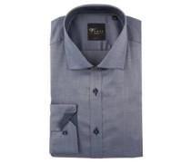 Businesshemd, Kent-Kragen, leichter Glanz, Body Fit,