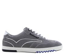 Sneaker, Leder, Grau