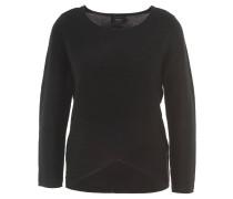 Pullover, Struktur-Muster, Lagen-Look, Schwarz