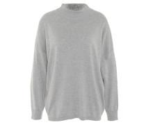 Pullover, uni, Stehkragen, Wolle-Anteil, Bündchen
