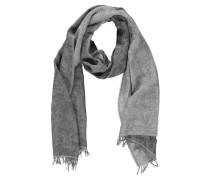 Schal, gewebtes Blattmuster, Baumwoll-Mix