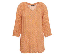 Bluse, geometrisches Allovermuster