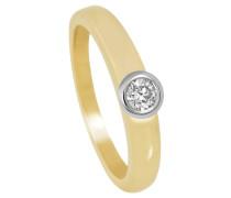 Diamant - Ring Gelbgold/Weißgold 585