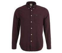 Freizeithemd, Waffelstruktur, Button-Down-Kragen, Rot