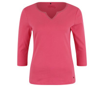 Shirt, 3/4 Arm, Split-Neck, Nieten-Applikation