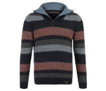 Pullover, Troyer-Kragen, Streifen, reine Baumwolle, Mehrfarbig