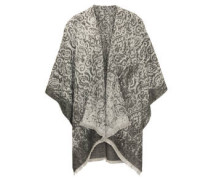 Poncho, offen, Fransen, Paisley-Muster