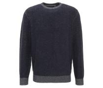 Pullover, Wolle-Mix, Rundhalsausschnitt, Blau