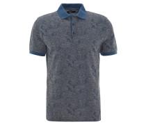 Poloshirt, Muster im Paisley-Stil, Grau