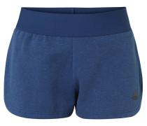 Shorts, melierte Optik, Elastikbund, für Damen, Blau