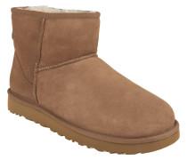 "Boots ""Classic Mini II"", Veloursleder, Lammfellfutter, Beige"