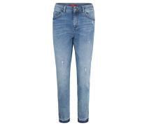 "Jeans ""Shape Ankle"", High Rise-Denim, verkürztes Bein, Blau"