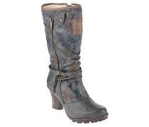 Stiefel, Lagen-Look, Western-Stil, Blau