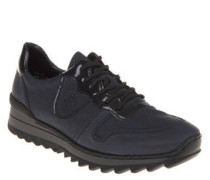 Sneaker, Lack-Besatz, Profilsohle