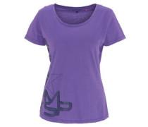 T-Shirt, seitlicher Print, Baumwolle, für Damen