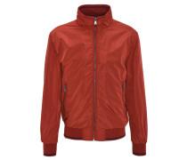 Jacke, leicht, Stehkragen, Bündchen, Reißverschluss, Rot