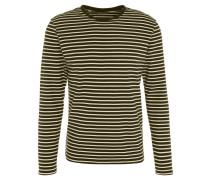 Langarmshirt, Streifen, Rundhalsausschnitt, Baumwolle, Grün