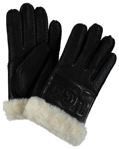 Handschuhe, Leder, Lammfell, Logo-Schriftzug