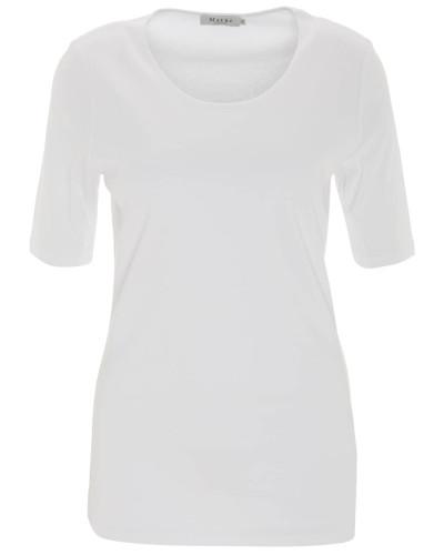T-Shirt, einfarbig, großer Rundhalsausschnitt