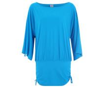 T-Shirt, Oversized, Trompetenärmel, Elastikbund, Blau