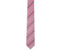 Krawatte, reine Seide, Streifen-Mix