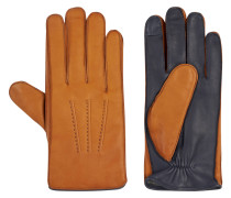 Handschuhe, Schafsleder, zweifarbig, Ziernähte