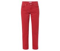 "Jeans ""Cici"", gerader Schnitt, lang, unifarben, Rot"