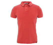 "Poloshirt ""Piquee Polo Washed"", Used Look, Rot"
