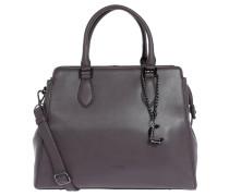 "Handtasche ""Canberra"", Leder, trapezförmig, Grau"