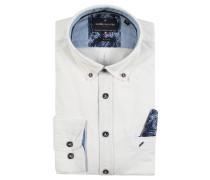 Businesshemd, Paspeltasche, Farbdetails, Weiß