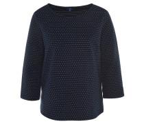 Shirt, 3/4-Arm, Baumwoll-Mix, Punkte, strukturiert