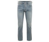 """Jeans """"501"""", Straight Fit, mittlerer Bund, Zierstickerei, Blau"""