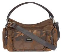 "Handtasche ""Mimikry"", Camouflage, Emblem, Braun"