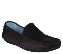 "Business-Slipper ""Zenon"", Veloursleder, Blau"