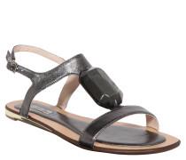 Sandalen, Zier-Stein, Grau