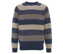 Pullover, gestreift, Woll-Anteil, Rundhalsausschnitt