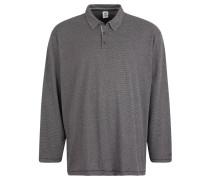 Poloshirt, Langarm, gemustert, Große Größen, Grau