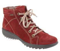 "Boots ""Nadja 136"", Veloursleder, wasserdicht, winddicht, Rot"