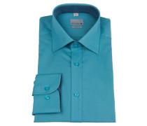 Businesshemd, bügelfrei, uni, Kent-Kragen, Grün