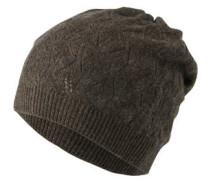 Kaschmir-Mütze, Falten, Lochstickerei