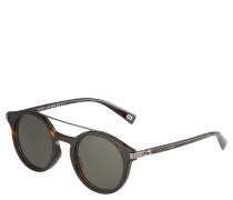 Sonnenbrille, Havanna-Braun, runde Gläser