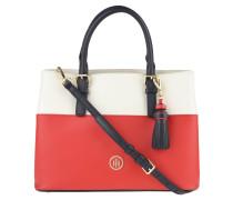 "Handtasche ""Summer of Love"", Leder, Troddel-Anhänger, Rot"