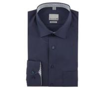 Businesshemd, Regular Fit, Kent-Kragen, bügelfrei, Baumwolle