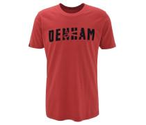 T-Shirt, Rundhalsausschnitt, Baumwolle, Samt-Print, Rot